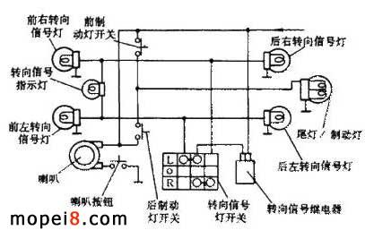 摩托车平衡轴原理图; 气缸往返控制电路图;