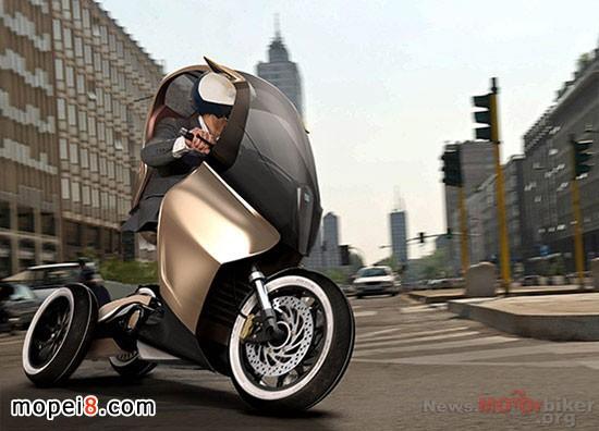 Piaggio PAM概念踏板三轮车