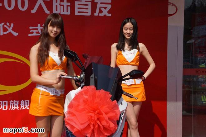 光阳摩托新款重型踏板车赛艇(XCITING)400大贸登陆上海
