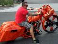超级拉风炫酷的摩托车 橘色梦幻 (459播放)