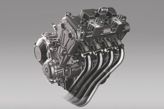 CB650F搭载的并列四缸属全新研发