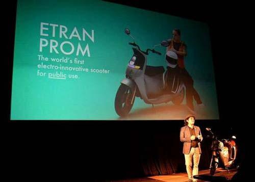 泰国3D打印电动摩托车