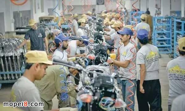 Unique摩托在巴基斯坦的组装厂采用中国核心零件