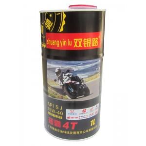 双银路润滑油 超霸4T摩托车机油 SJ:15W-40
