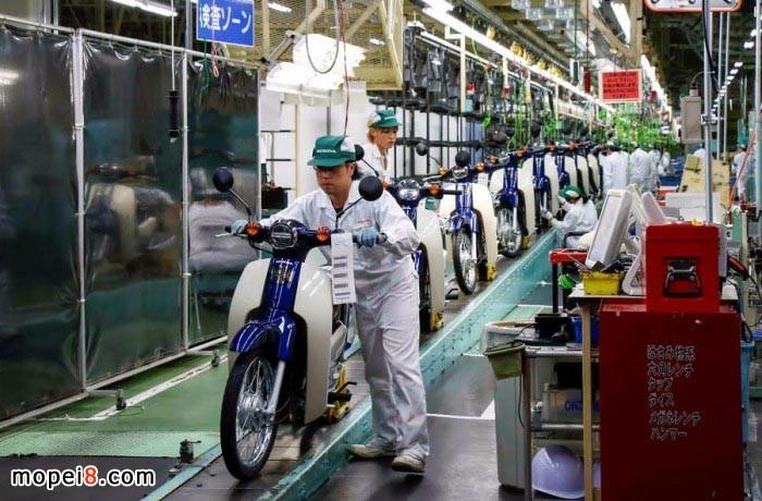 日本本田Super Cub经典摩托车工厂